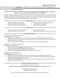 Sample Resume For Real Estate Agent by Cover Letter Realtor Resume Sample With Professional Profile As