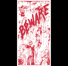 horror home decor psycho dexter beware bloody door cover halloween wall decoration