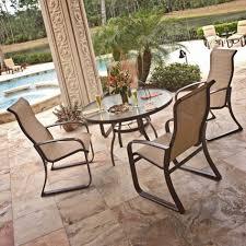 luxury garden woodard patio furniture sets glass circle table
