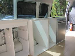 Flat Pack Kitchen Cabinets Brisbane Campervan Kitchen And Cabinets The Campervan Converts