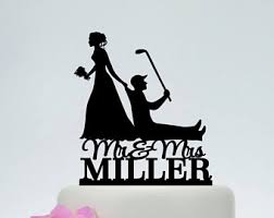dragging groom cake topper golf cake topper etsy