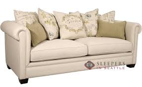 customize and personalize chardonnay queen fabric sofa by fairmont
