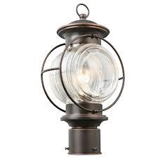 shop portfolio caliburn 15 25 in h oil rubbed bronze post light at