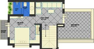 2 Bhk House Plan 2 Bhk Floor Plan Image Param Group Vadodara Weekend Villa