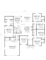one story 5 bedroom house floor plans pinterest cool corglife