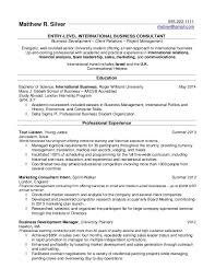 Entry Level Resume Sample No Work Experience by Resume Profile Examples For College Students Medium Size Of
