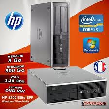 ordinateur de bureau i5 promo ordinateur de bureau hp elite 8200 sff i5 ram 8go hdd 500go