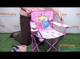 Toddler Folding Beach Chair Disney Princess Fold N U0027 Go Chair From Kids Only Youtube