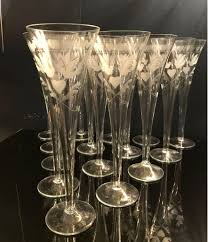 vintage martini glasses vintage french engraved champagne flutes u2013 ed butcher