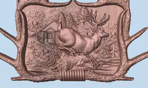deer wood wall deer wood carving wood wall decor rustic cabin wall