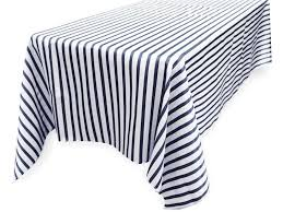 navy blue table linens ya ya ever lovable stripes table cloth 90 x 156 rectangle tablecloths