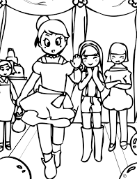 fashion model coloring pages fashion model coloring pages kids coloring