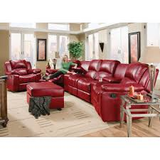 Red Loveseat Flick Home Theater 2 Recliners 2 Consoles U0026 Reclining Loveseat