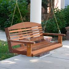 Western Red Cedar Outdoor Furniture by A U0026 L Furniture Western Red Cedar Classic Curved Back Porch Swing