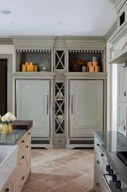 the sub zero refrigerator and freezer in this elegant french