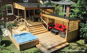 Polycarbonate Porch by Multi Level Deck Including A Pergola With Polycarbonate Cover A