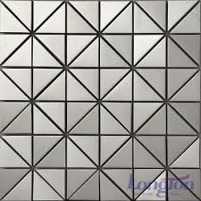 Metallic Tile Backsplash by Mosaic Metal Tiles Stainless Steel Aluminum Copper