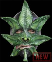 Pot Halloween Costumes Smoking Weed Mask Funny Marijuana Pot Face Halloween