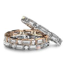 baguette wedding band blaze and baguette wedding band