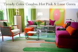 trendy color combo pink u0026 lime green
