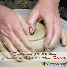 ninth anniversary gifts 9th year pottery wedding anniversary gifts for him wedding