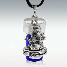 cremation jewlery lighthouse cobalt glass cremation jewelry memorials