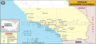 map of cities in california map of cities in southern california