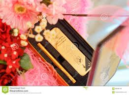 wedding gift gold decorative wedding gold bar editorial stock image image of