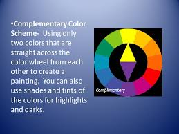 complementary color scheme using only two colors that are