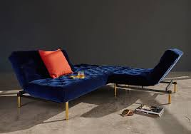 oldschool sofa bed with brass legs unique sofa bed design