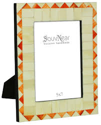 Home Decor Distributors Bulk Buy 5x7 Inches White U0026 Orange Picture Frame Wholesale