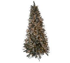 bethlehem lights 7 5 u0027 frosted mistletoe christmas tree page 1