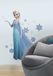 Giant Wall Murals by Frozen Elsa Giant Wall Stickers With Glitter Wall Murals