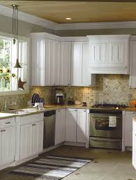 modern country kitchen design with cabinet and glass window 4019