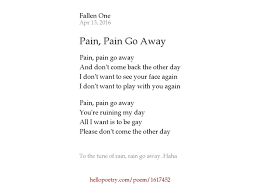 go away by isabelle hello poetry
