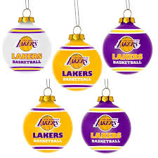forever collectibles nba 5 pack shatterproof ornaments los