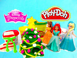 play doh christmas tree magic clip dolls disney princess santa