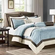 Blue And Brown Bed Sets Park Mp10 458 Juliana 9 Charmeuse