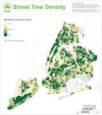 New York Boroughs Map by Treescount 2015 Nyc Parks