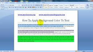 ms word apply background color to text hindi youtube