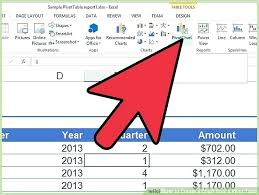 tutorial pivot table excel 2013 pivot table excel 2013 image titled create a chart from a pivot