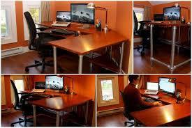 Diy Ergonomic Desk Ergonomic Desk Finished Got Wood Pinterest Desks And