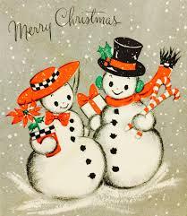 retro christmas cards vintage christmas card retro christmas card vintage snowmen