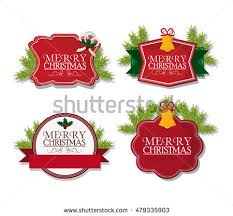 holly christmas vector labels download free vector art stock