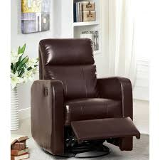 Glider Recliner Chair Swivel Glider Leather Recliner Chair Brookstone
