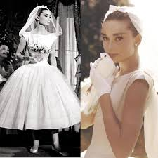 discount vintage audrey hepburn wedding dresses white scoop