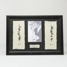personalized wedding plaque ogham personalized wedding plaque with date picture
