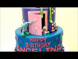 monsters inc birthday cake inc theme cake inc birthday cake