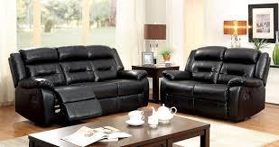 contemporary style sheldon plush seats black bonded leather sofa