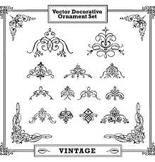 vintage decorative ornament set vector 504417 by vectormikes on